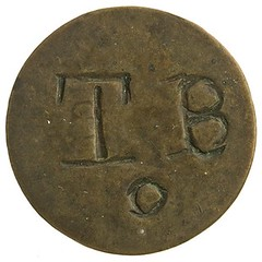 1798 Trinidad and TObago Copper 1 stampee obverse