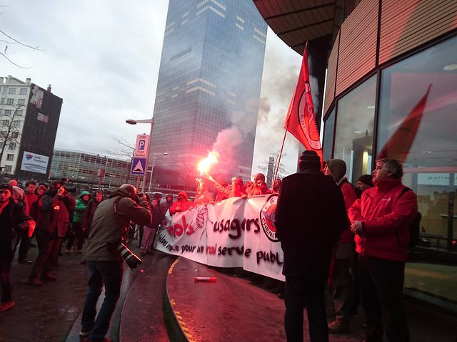 Spoorstaking 7 januari 2016 // Foto's: PPICS