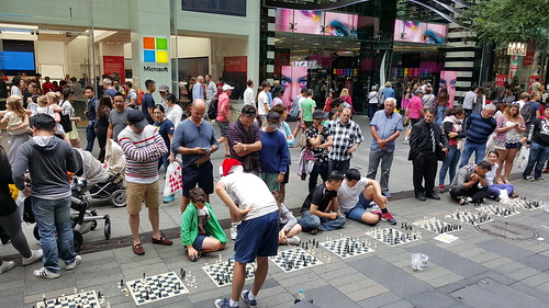 Chess on the Mall, Pitt Street Mall, Sydney NSW