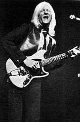 Early Johnny Winter performing with Fender Mustang