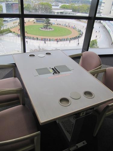 京都競馬場のL-テーブル