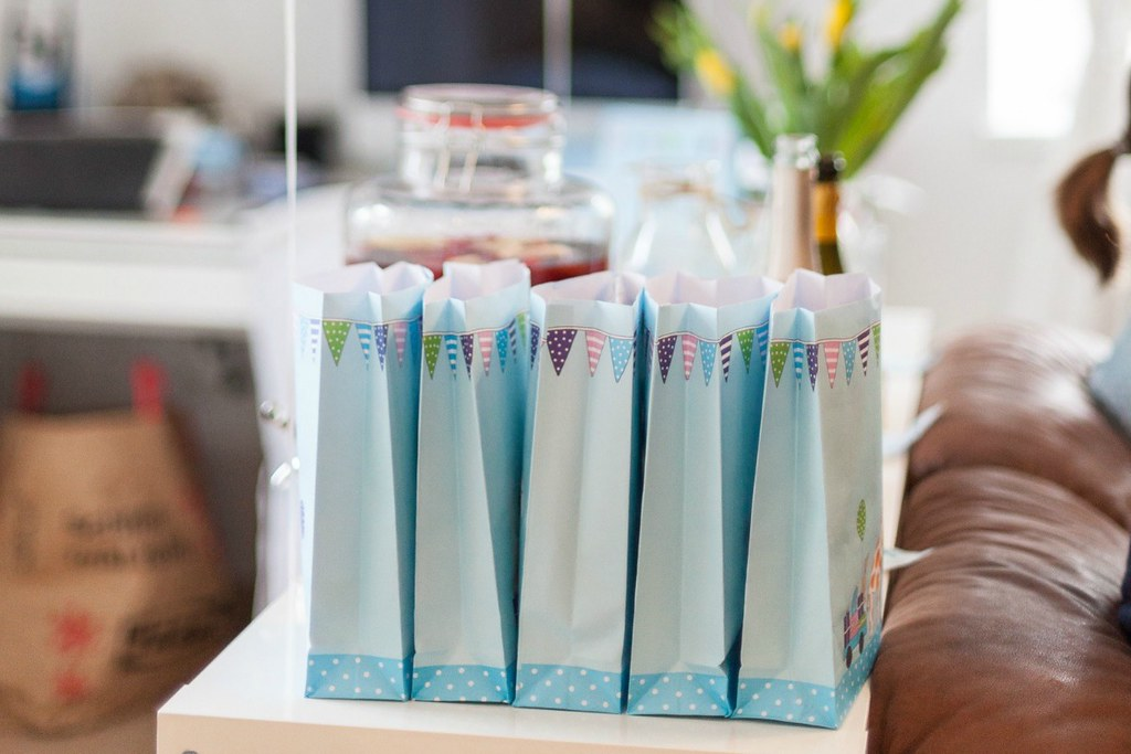 baby boy party - rezepte und freebies am blog! goodie bags