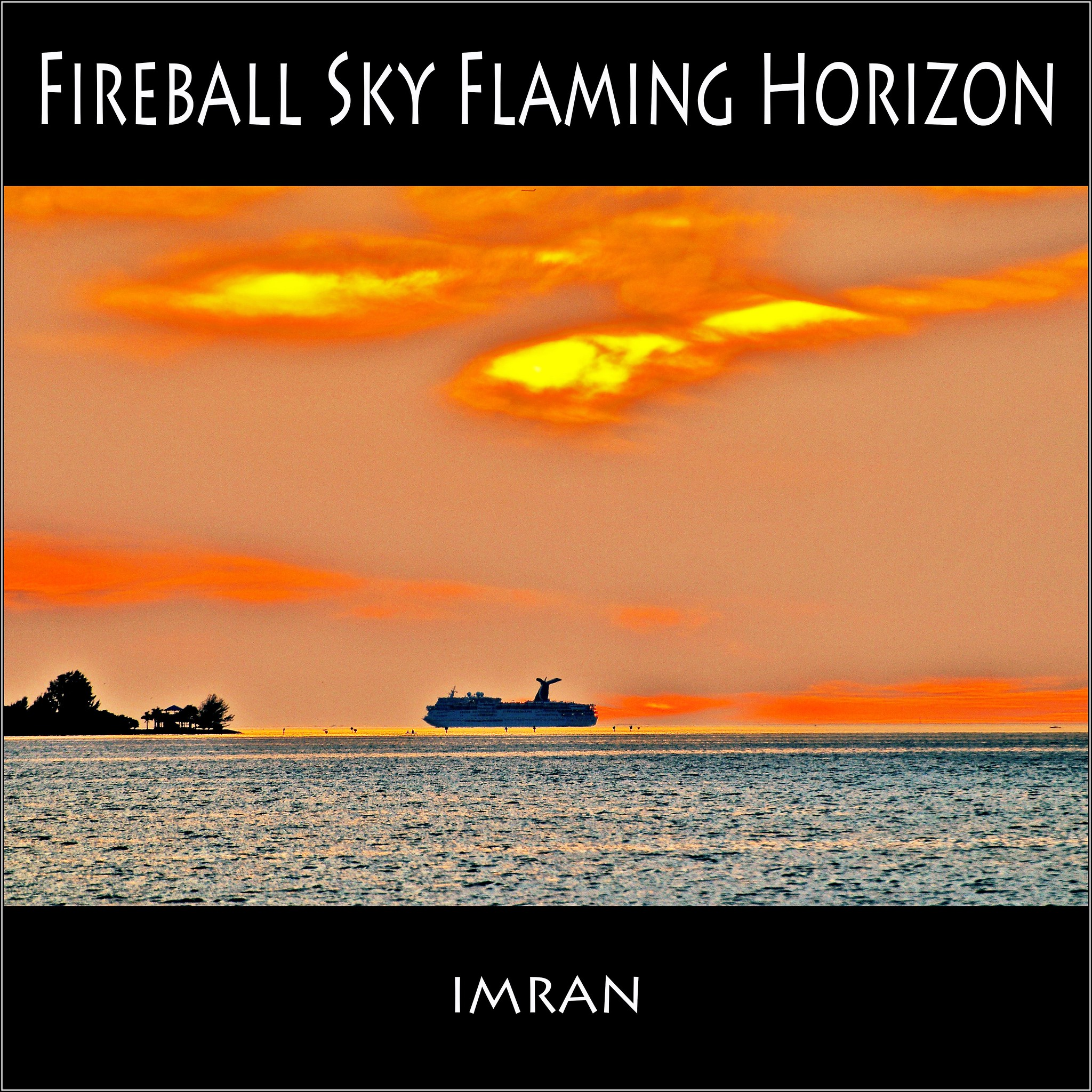 FireBall Sky, Flaming Horizon, Pink Cloud Cruise - IMRAN™