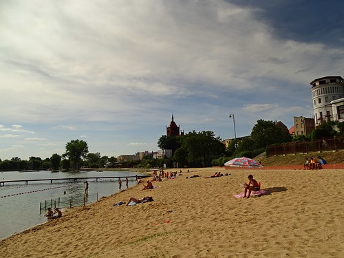 summer sky people lake holiday beach clouds landscape sand view poland polska chełmża