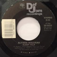 ALYSON WILLIAMS:SLEEP TALK(LABEL SIDE-A)