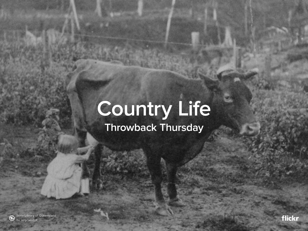 Throwback Thrusday: Country Life