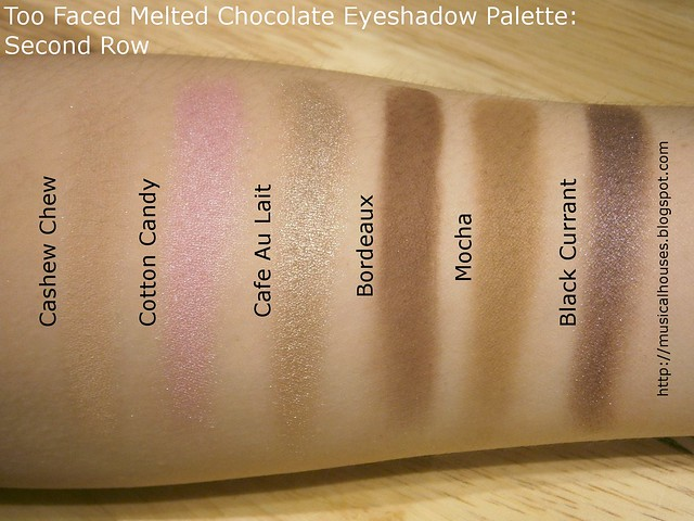Too Faced Chocolate Bon Bons Eyeshadow Palette Swatches Row 2