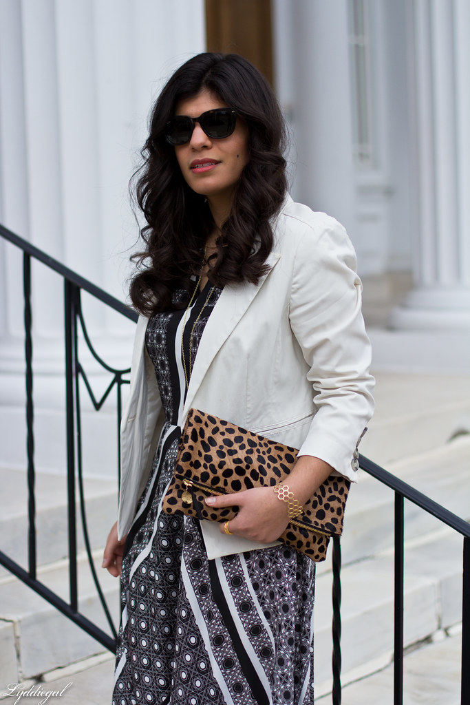 printed maxi dress, white blazer, leopard clutch-2.jpg