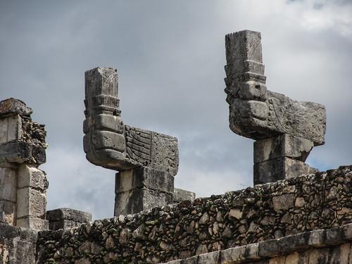 Chichen Itza: le Temple des Guerriers et le Groupe des Milles Colonnes