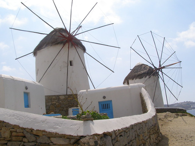 windmills in Mykonos Greece