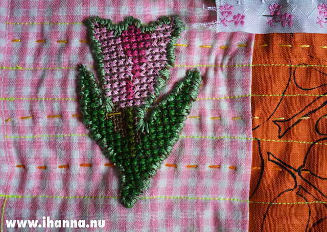 Re-Purposed Cross Stitch Tulip 2
