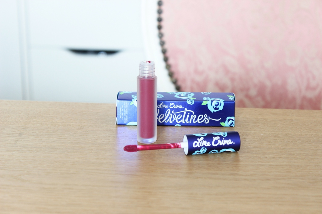 Lime Crime Velvetine Beet It (1)