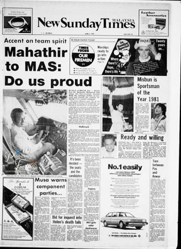 malaysia airlines 1982 new sunday times