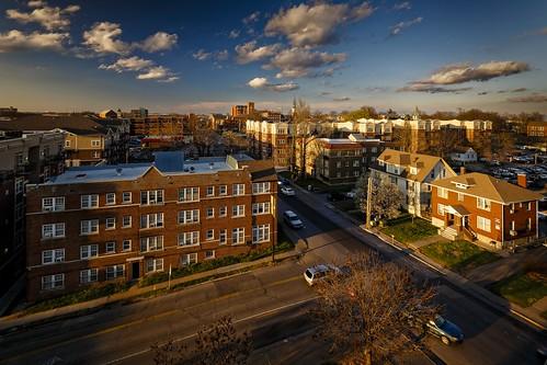 Notley Hawkins Photography, Columbia MO Photographer, Downtown Columbia Missouri, Hitt Street, Walnut Street, Skyline, architecture