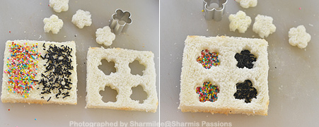 How to make Sprinkle Sandwich - Step2