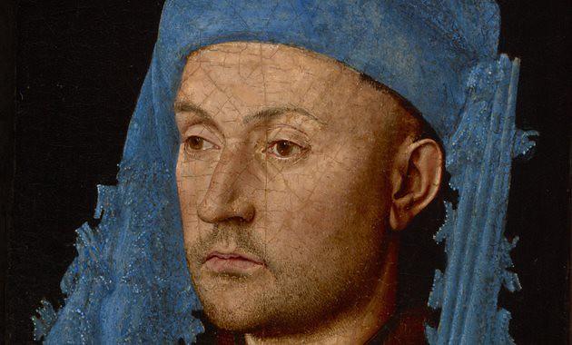 Man met blauwe kaproen, Johan van Eyck...