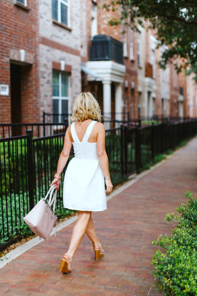 Hi Sugarplum | Blush & White outfit