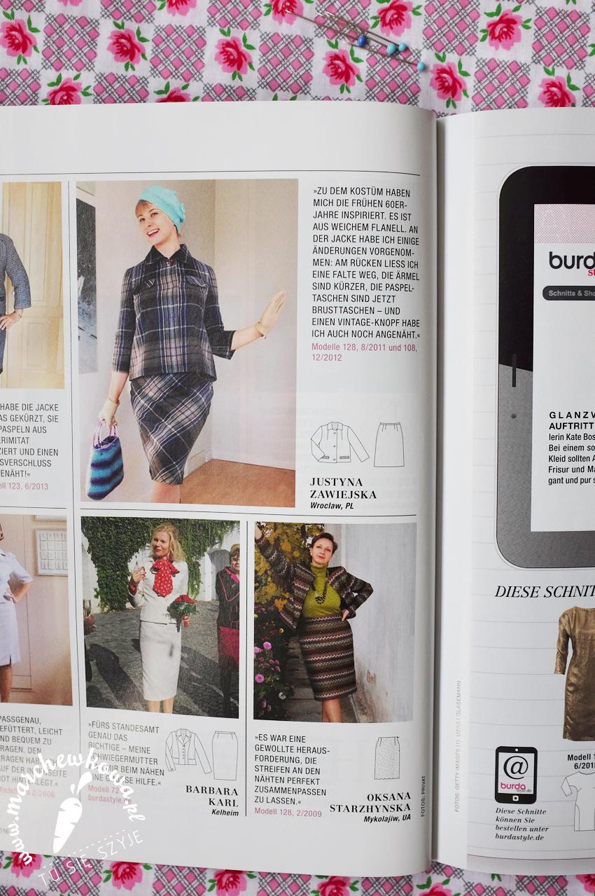 German edition, Burda Style Magazine, 4/2016, marchewkowa, sewing, szycie, tu się szyje, Wrocław, artykuł, Justyna Zawiejska