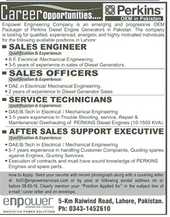 Perkins Pakistan Carrer Opportunities