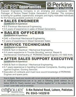Perkins Pakistan Carrer Opportunities