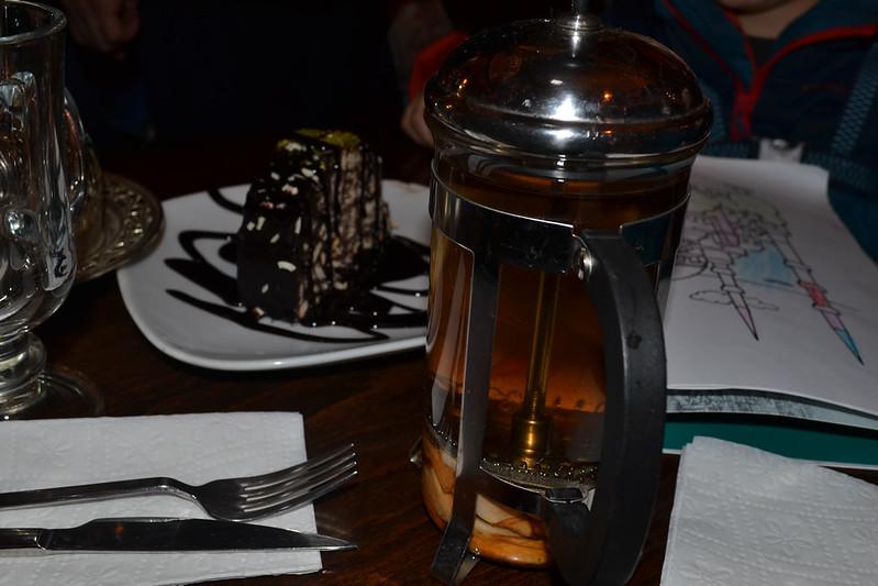 Té y pastel en el Gran Baazar