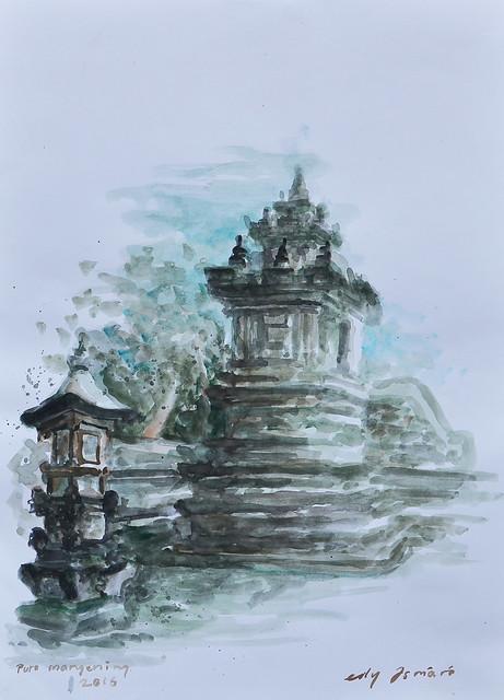 Putu Edy Asmara Putra , Mangening 40 X 30 cm, Water Colour on paper