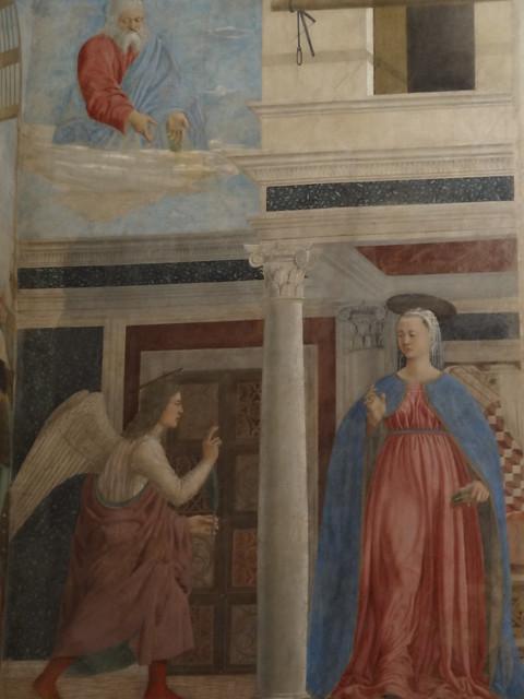 Annunciation, Piero della Francesca, 1453, Basilica San Francesco