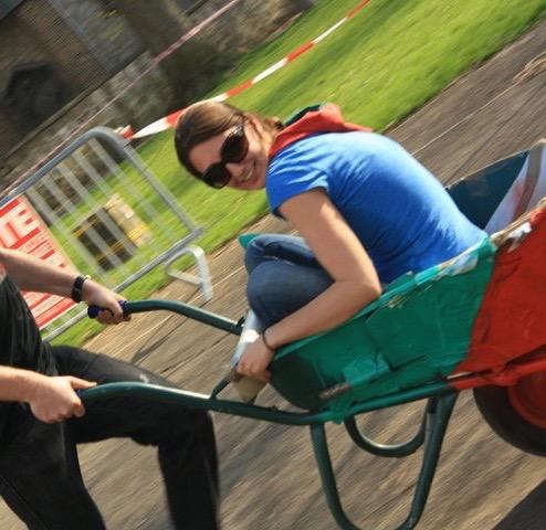 Scouts Wheelbarrow Race Fundraiser