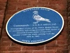 Photo of Commando blue plaque