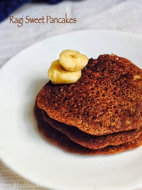 Ragi pancakes recipe for babies, toddlers and kids1