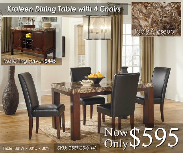 Kraleen Dining Table and chairs