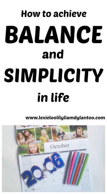 How to achieve balance and simplicity in life