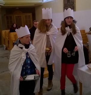Tři králové v kostele
