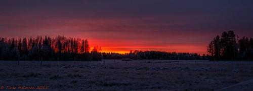 winter red orange finland talvi auringonlasku taivas laihia nikondx ostrobothnia eteläpohjanmaa absolutelyperfect d5200 isokylä nikkorafsdx18105mmf3556gvr piikkikivenmäki