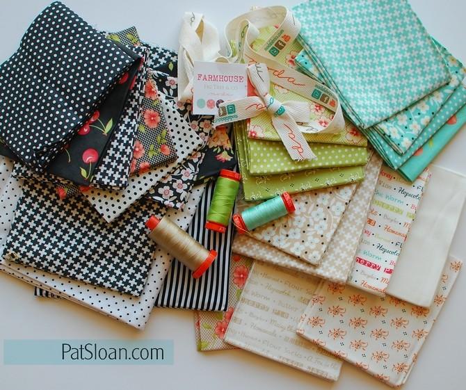 pat sloan 2016 Aurifil block 1 fabrics