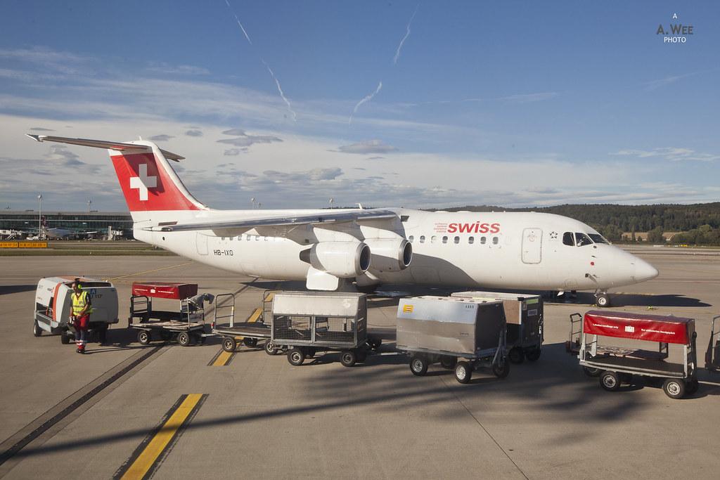 Swiss BAe Avro RJ100