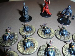 28mm Scale Giant Fire Beetles Beg for Handouts