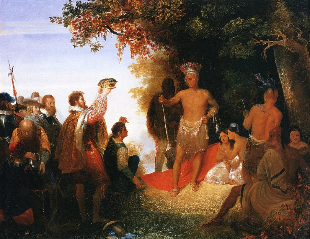 'The Coronation of Powhatan,' by the American artist John Cadsby Chapman