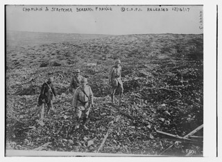 Chaplain & stretcher bearers, France (LOC)