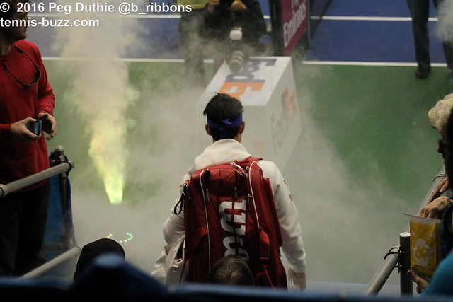 Nishikori's entrance