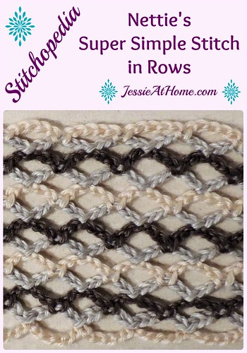 Stitchopedia - Nettie's Super Simple Stitch in Rows from Jessie At Home