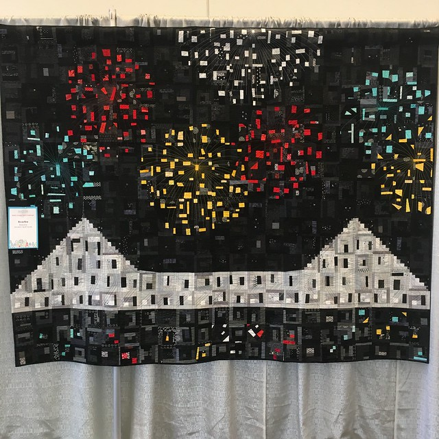 """Riverfire"" by Brisbane Modern Quilt Guild"