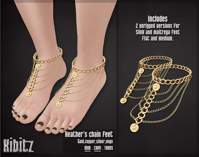 kibitz Heathers chain feet vendor
