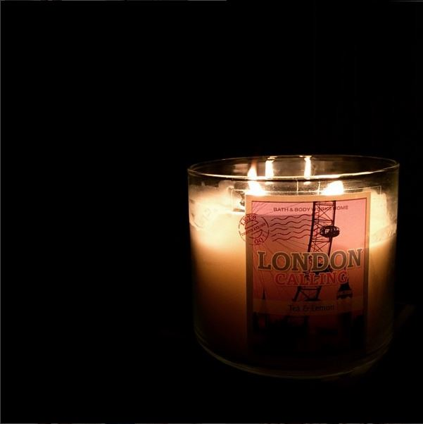 london tea and lemon candle