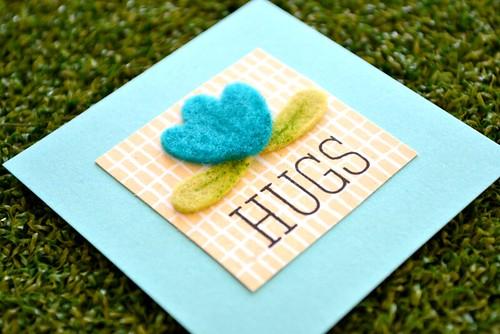 Hugs close up