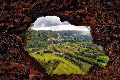 window rain rio river puerto ventana grande view forrest rico arecibo valley cave bats cueva limestome
