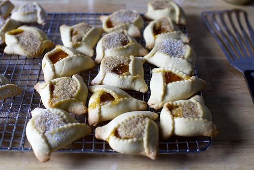 apricot hazelnut brown butter hamantaschen