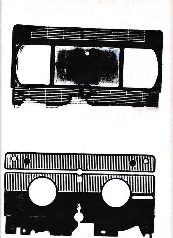 gravure linoléum et technique mixte. janvier 2016