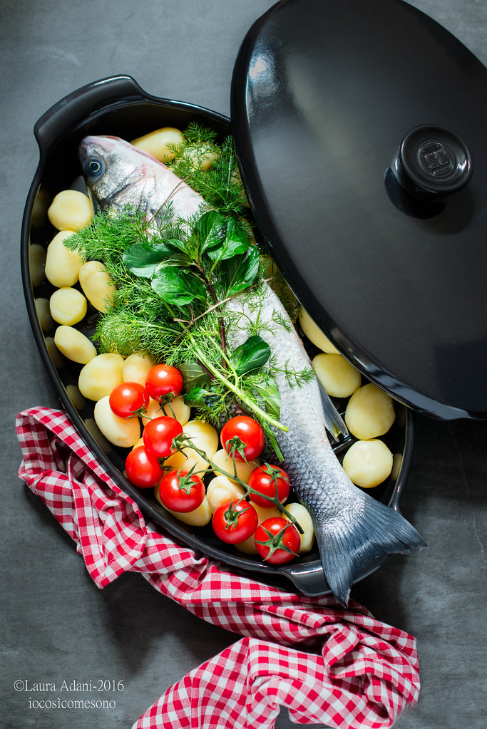 Sea bass in steam papillote