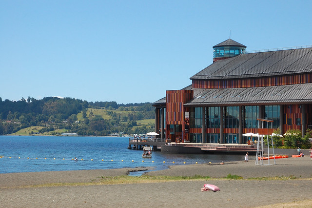 Views of Lago Llanquihue and Teatro de Lago, Frutillar, Chile